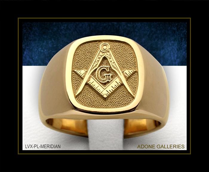 Кольцо Со Знаком Масонов
